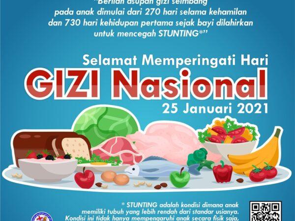 Selamat Hari GIZI Nasional