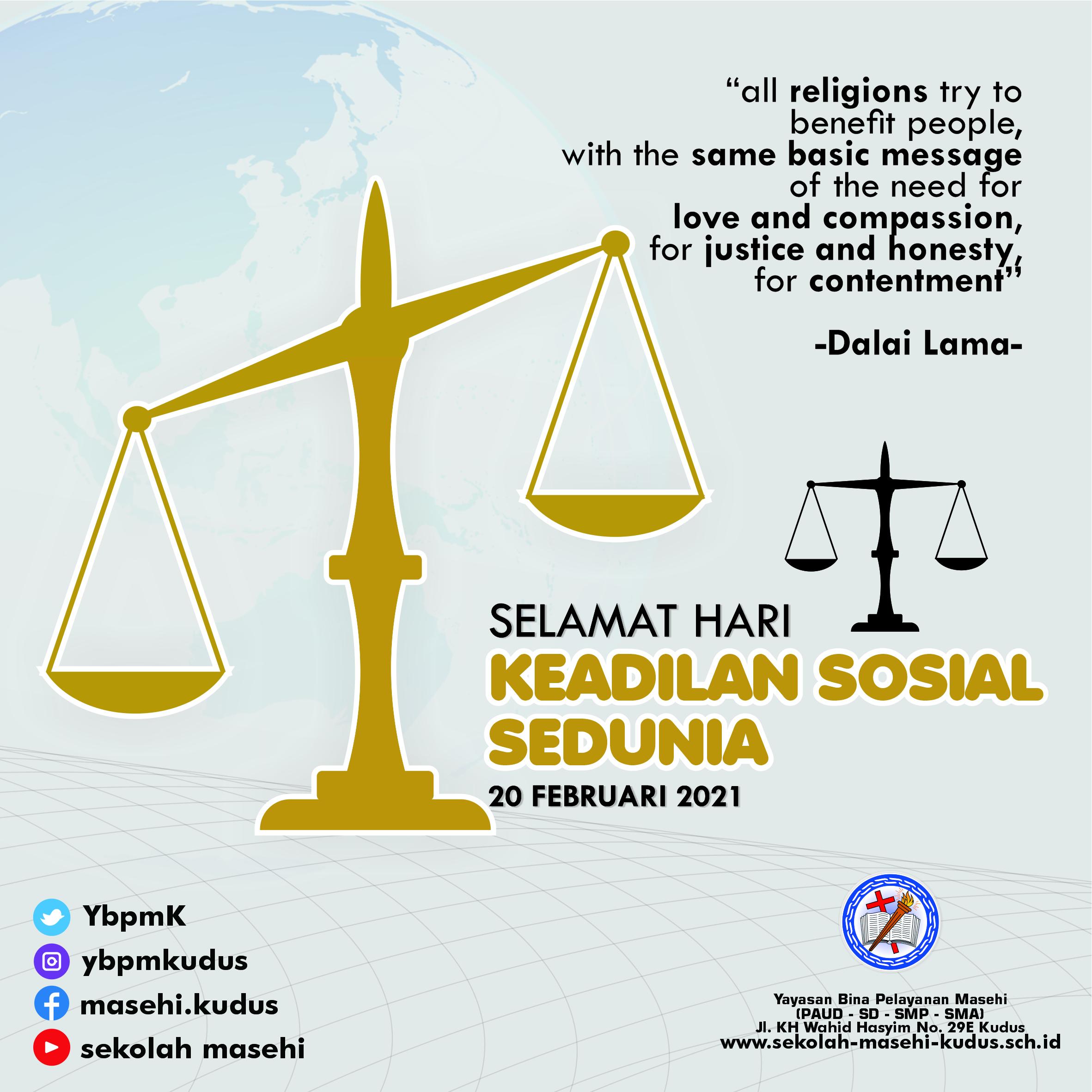 Selamat Hari Keadilan Sosial Sedunia