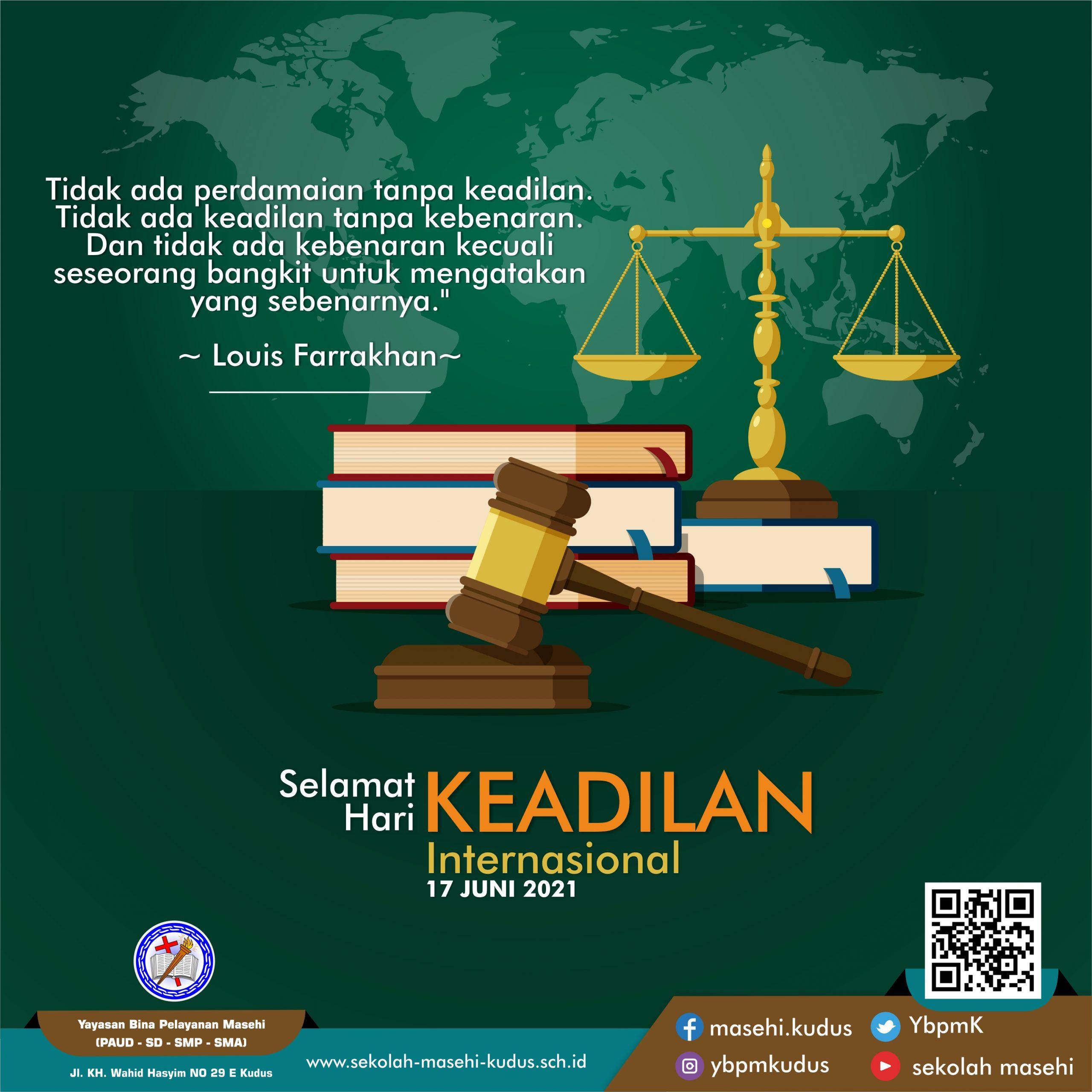 Selamat Hari Keadilan Internasional