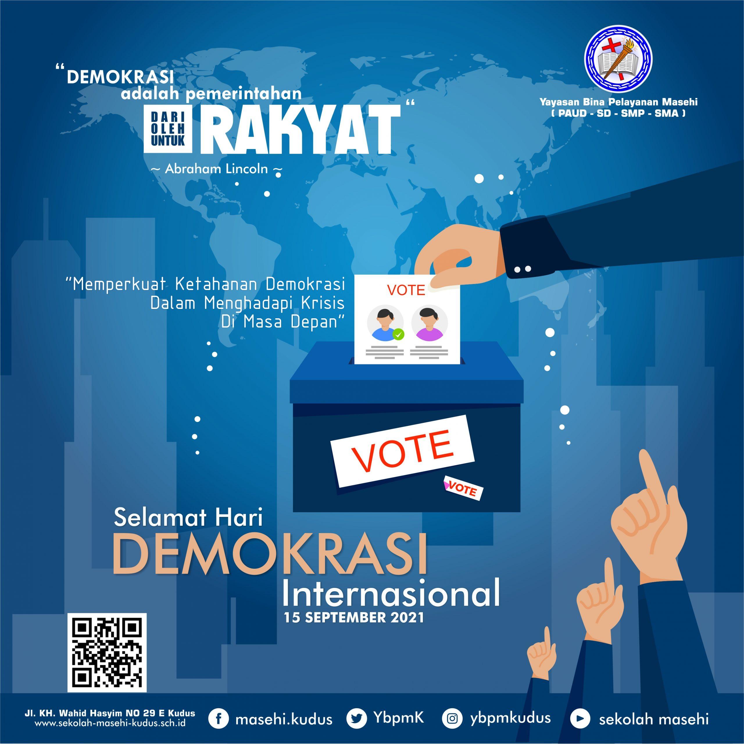 Selamat Hari Demokrasi Internasional